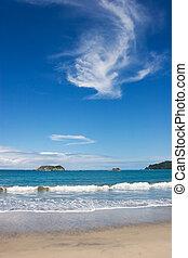 Manuel Antonio Beach - A view over Manuel Antonio Beach in...