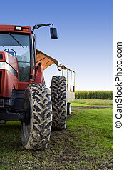 Farming truck - A shot of a truck used for harvesting on a...