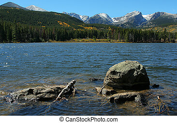 Sprague Lake; Rocky Mountain National Park, Estes Park,...