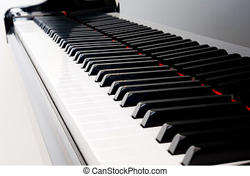 Piano Keys - Closeup of grand piano keys