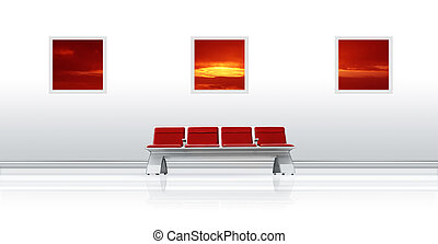 Airport Seat Red