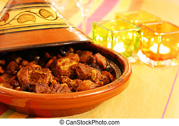 Tagine - Moroccan Tagine, an oriental cooking from north...