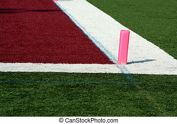 Football end zone - The backline of a Football end zone