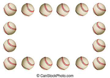 Baseball Frame - An baseball frame on a white background