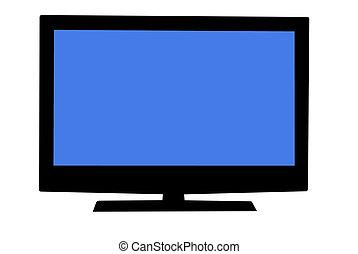 Plasma Television - Plasma television isolated on white...