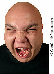 Displeased - A very ill-tempered male yelling about...