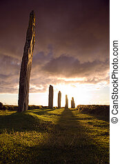 dramatic brodgar - Ring of Brodgar in dramatic evening light...