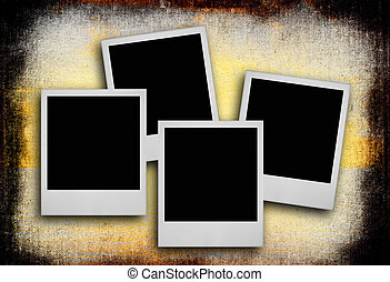 photo frames against dirty background