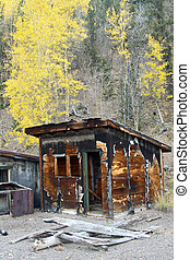 Ghost Town Autumn - Remnants of a mining village nestled in...