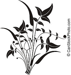 Chaotic nature background - Plants leaves and stalks are...