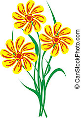 flower background - The light pleasant background from...