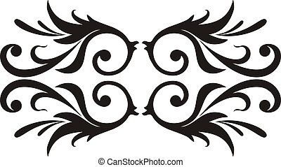 scroll design - Calligraphical figures created for...
