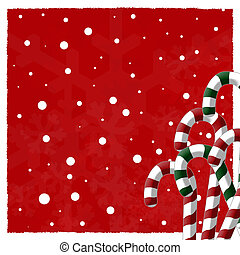 Candy Cane Background - Candy cane and snowflake background...