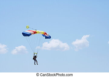 Parachuter and clouds - Parachuter on the cloudy sky...