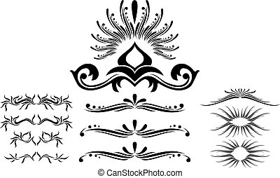 abstract illustration - Scroll, cartouche, decor, vector...