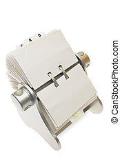 Business Card Holder - Circular rolodex card file isolated...