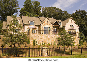 Stone House and Wrought Iron - A nice stone house on a hill...