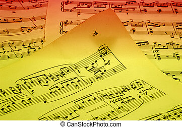 Sheetmusic - Photo of Sheetmusic With Gel Lighting -...