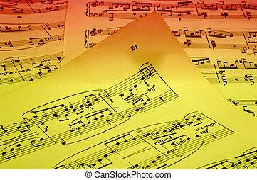 Sheetmusic - Photo of Sheetmusic With Gel Lighting -...