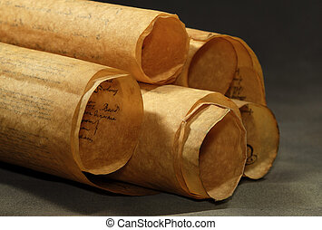 Scrolls - Photo of Rolled Up Parchments / Scrolls