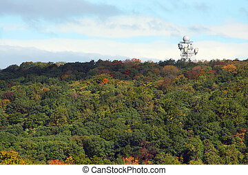 Microwave Tower on a mountain top - A Microwave Tower on a...