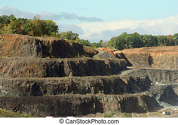 Rock Quarry - A Rock Quarry dug out mountain side