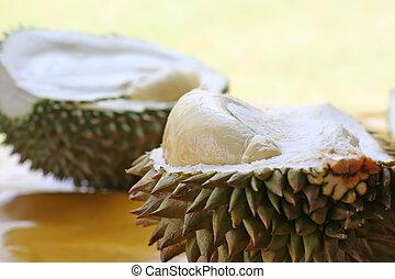 Durian fruit - Fresh open durian fruit fresh tropical exotic