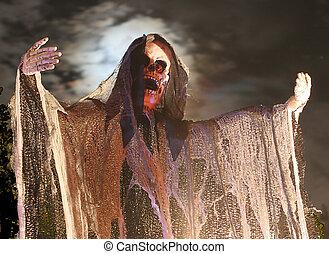 Spooky Goul on Halloween - Goul on Halloween night with a...
