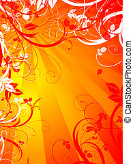 Floral abstract - Abstract floral design using warm summery...
