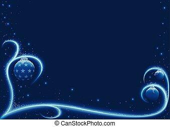 Blue Xmas Snow