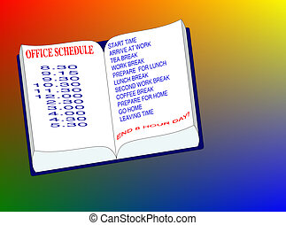 Office Schedule - Open day planner for an office schedule of...