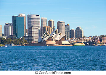 sydney harbour and city - sydney harbour ( harbor ) and...