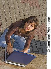 Outdoor computer working