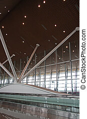 Airport interior - Airport architecture interior with...