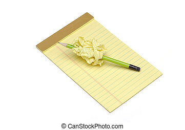 Pad with Pencil through Wad