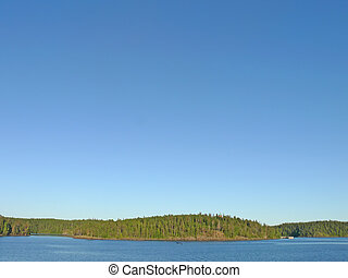 Landscape of island Valaam on Ladoga lake