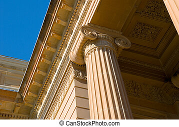 Classical Detail of Ionic Column and Capital - neo classical...