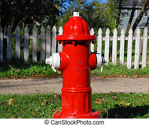 Fire Hydrant - Bright red fire hydrant