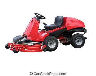 Red Ride-on Lawn Mower
