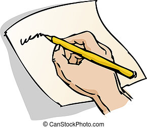 Hand writing illustration - Hand writing on a piece of paper...