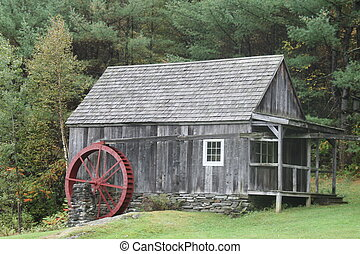Gristmill in country setting