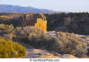 Hovenweep - Ancient ruins of pre-historic Indian cultures of...