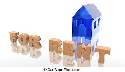 house for rent - a 3d rendering to illustrate house renting