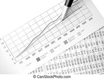 Charting success - Charts presenting financial performance...