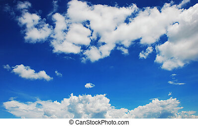 Blue Sky And Clouds - Blue sky with white cloud formations
