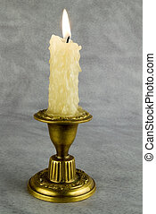 Bronze candlestick isolated over  background