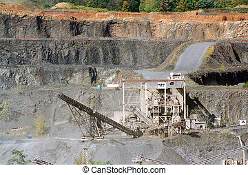 Rock Quarry - A Rock Quarry with equipment and road