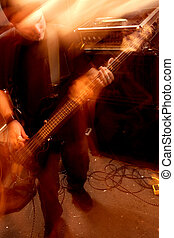 Bass player movement 2 - Blurry atmospheric abstract noisy...