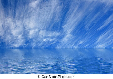 Sky - this image shows sky and clouds with a ocean