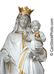 Mother Mary & Baby Jesus - Isolated image of Mother Mary &...